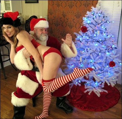 spanking-santa